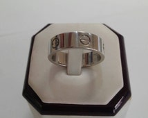 CARTIER LOVE 18K White Gold Band
