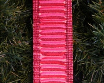 """Vintage Red Ruffled Dbl-Wired 2"""" 25FT Ribbon Garland"""