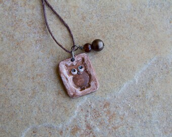 Owl pendant and charm, owl necklace, owl pendant, rustic owl pendant, owl jewelry, wise bird pendant, animal pendant, anamil jewelry, hoot