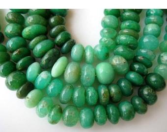 Chrysoprase Rondelles, Chrysoprase Beads, Shaded Chrysoprase, Rondelle Beads, 12mm Beads, Half Strand 9 Inches, 32