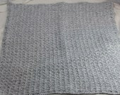 Baby Afghan - Shell Stitch - Grey