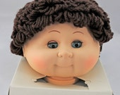 Vintage Cabbage Patch Style Doll Head - Brunette - Crafters, Dollmakers Find