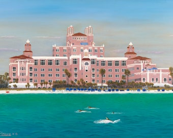 Don Cesar Hotel St. Petersburg Florida view from Gulf of Mexico