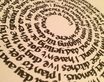 Spiral Song Lyrics Etsy