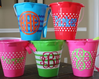 Personalized, Monogrammed Sand Pail Beach Bucket