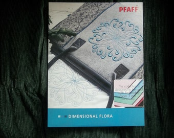 "PFAFF Ebroidery ""DIMENSIONAL FLORA"" #462 Design Collection"