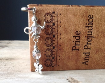 Butterfly and Teapot Bookmark