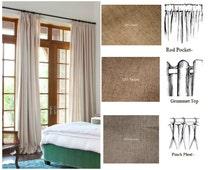 popular items for linen drapes on etsy