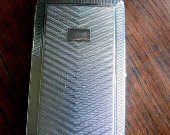 Vintage Mosda Streamline 500 Chrome Petrol Lighter & Cigarette Case