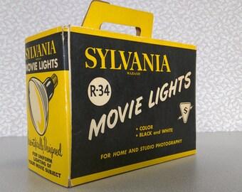 2 Sylvania Wabash Superflood Movie Lights in Original Box