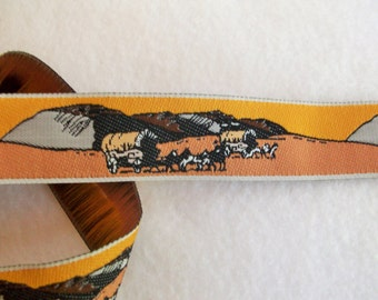 DAILY SPECIAL Buy 10Y for 9 Dollars Wagon Train Woven Western Jacquard Ribbon 1""