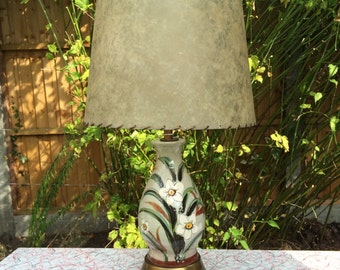 Vintage mid century modern narcissis table lamp