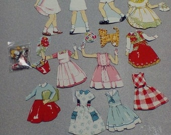 magnetic fabric paper dolls