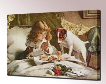Suspense Canvas Wall Art Print Picture Charles Burton Barber Ready To Hang