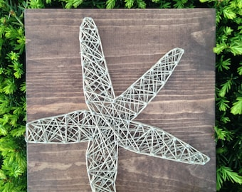 "Beach Starfish Dark Walnut w/ Hemp 10.5"" x 10.5"""