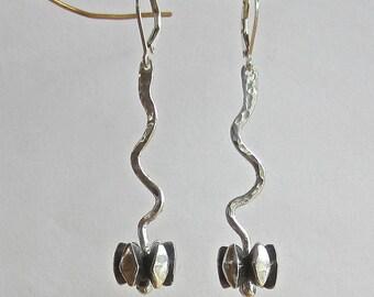 Open Pods silver earrings