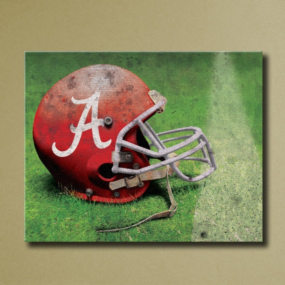 alabama crimson tide canvas wall art grunge by sportscorner