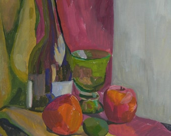 Still life with a green cup