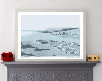 Coastal Silk Screen Print of Hayle Bay, Cornwall - Hand pulled Screenprint