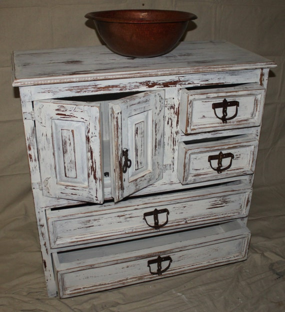 Items Similar To Rustic Bathroom Vanity Shabby Chic Wabi