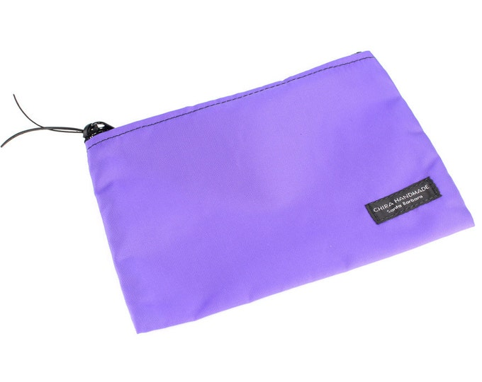 8x6 inch Lavender Purple basic nylon zipper pouch -- use for travel, snacks, cosmetics, a tool bag, photo-video gear, and more!