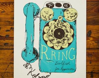 R. Ring  Screenprinted Poster