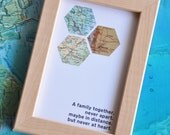 Christmas Gift for Parents Distance Family Personalized Map Art