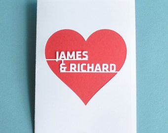 Gay Wedding Card Customized Personalized with Names