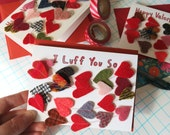 Valentine Card Felt Heart Garland Keepsake Luff You