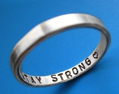 Thin Inner Message Custom Ring