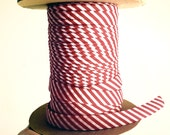 "1/2"" Double Fold Bias Tape  -  Red & White Candy Cane Striped - 10 yds"