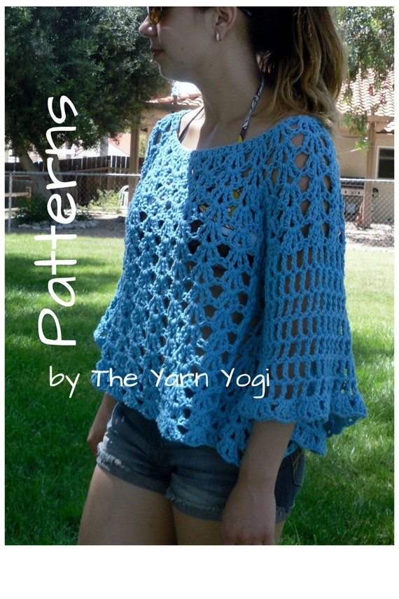 Crochet Sweater Top Pattern: The Angel Sleeve Cover-Up