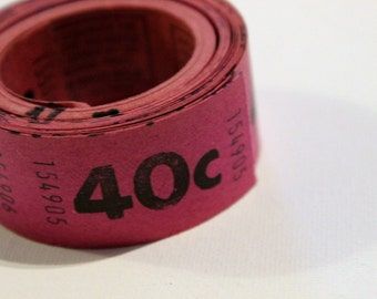 Vintage Purple 40c Tickets- package of 50 loose tickets, ephemera, paper collages, assemblage