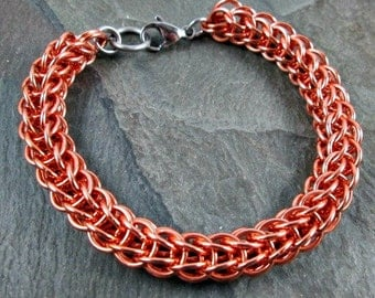 Chainmaille Bracelet - Copper Chain - Copper Chainmail - Full Persian - Chainmaille Jewelry