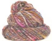 Handspun Art Yarn corespun handcarded sparkly Gotland Merino wool alpaca silk soysilk