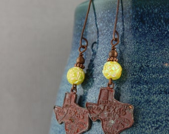 Yellow Rose of Texas Earrings