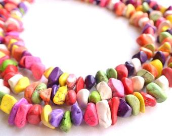 The Evie- Multi Color Magnesite Statement Necklace