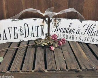 Save The Date Signs for the Dogs. Personalized Sign. Photo Props. Rustic Save The Date. Rustic Wedding. Save the Date.