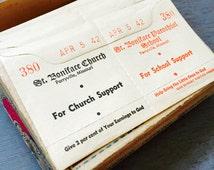 2pcs WWII CHURCH OFFERINGS Envelopes Homefront Ephemera