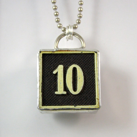 number 10 pendant necklace by xohandworks on etsy