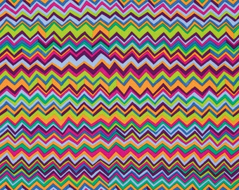 Zig Zag in Multi by Brandon Mably / Westminster Fabric / 1/2 yard Cotton, Quilt Craft and Apparrell fabric