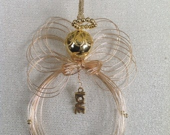 Wire Angel Message of Love Ornament with Pouch