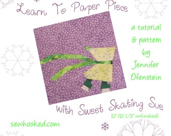Learn to Paper Piece with Sweet Skating Sue