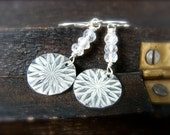 frost … sterling and mystic quartz dangles