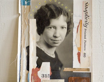 Original Mixed Media Collage . Altered Photograph . YART sale