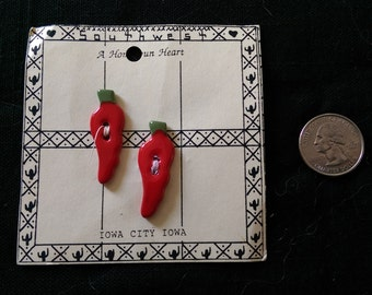 Chili Pepper Buttons - Ceramic - Free Domestic Shipping
