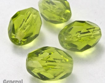 7mm x 9mm Olivine Faceted Oval Bead (25 Pcs)  #GCT008