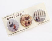The Adventures of Henri & Evelyn Button Pack - Vegas Vacation
