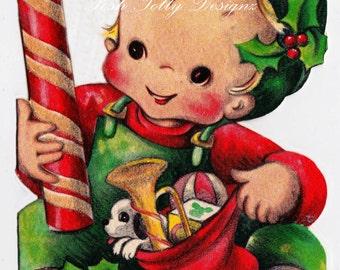 Happy Christmas Son Vintage Digital Download Printable Image (448)