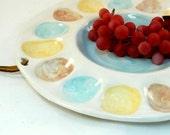 Deviled Egg Serving Plate / Wall Hanging / Kitchen Decor / Easter Egg Holder